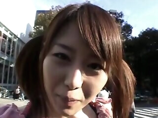 Japanese hottie banged in a public bus asian asian